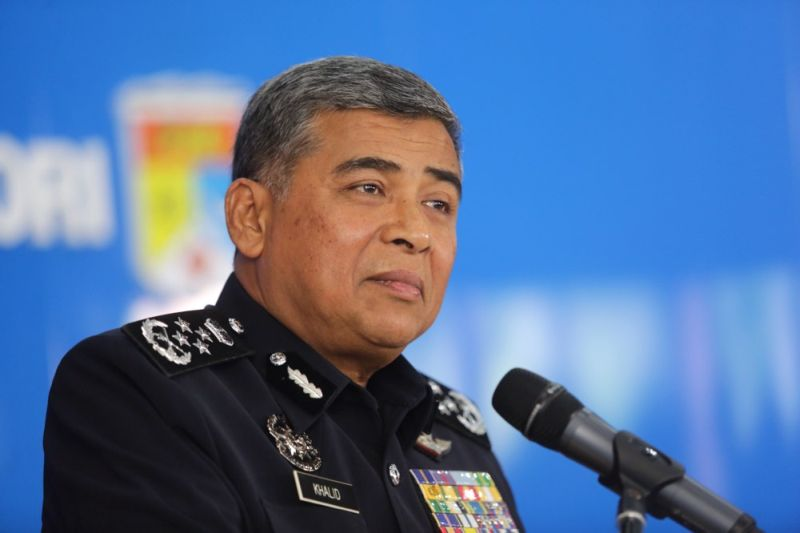 IGP Tan Sri Khalid Abu Bakar HAS ordered an investigation into a tweet that accused Umno of carrying out 'ethnic cleansing' in the May 13 and Kampung Medan race riots. —  Picture by Choo Choy May