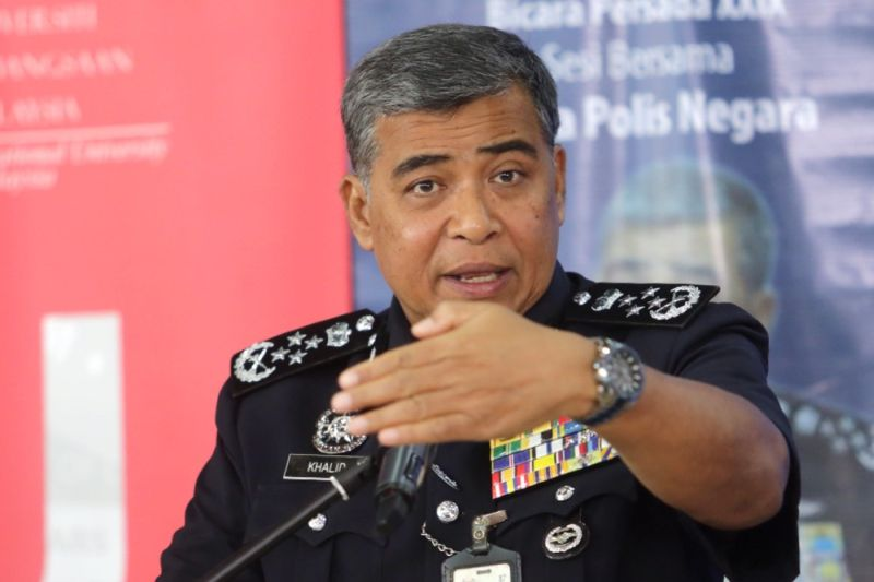 IGP Tan Sri Khalid Abu Bakar (pic) criticised yesterday the EAIC report on Dharmendran, which had found that the 31-year-old was beaten to death and tortured in police detention. ― Picture by Choo Choy May