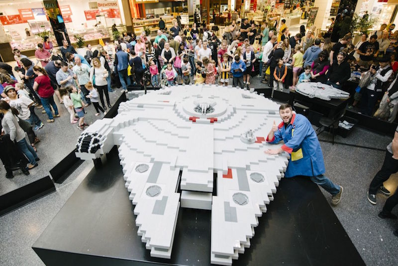 The Millennium Falcon that will be built by the Steiningers in Legoland Malaysia next month will be bigger than this version they had built in Melbourne, Australia, last year. — Handout via TODAY