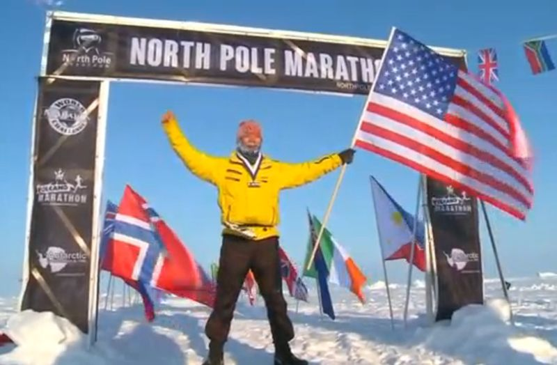 Winner of the North Pole marathon from the Reuters video.