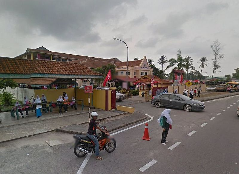 A Google screen capture shows the entrance of SMK Pengkalan Chepa II. Over 1,000 students were sent home ahead of time following a mass hysteria that occurred at the school.