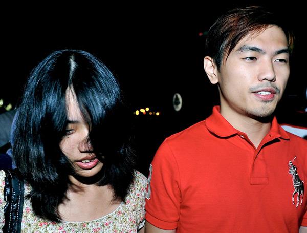 File picture of Vivian Lee May Ling (left) with her then boyfriend Alvin Tan Jye Yee. — Bernama pic
