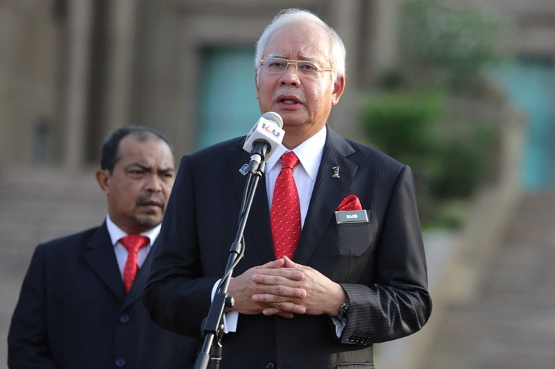 Datuk Seri Najib Razak (pic) claims the private member's Bill by Datuk Seri Abdul Hadi Awang is only to give the Shariah Courts power to mete out caning as punishment for any shariah offences. ― Picture by Choo Choy May