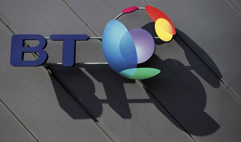 A BT company logo hangs on the side of a convention centre in Liverpool April 9, 2016. ― Reuters pic