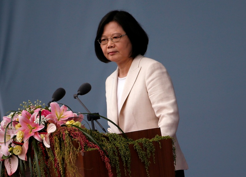 Taiwan's President Tsai Ing-wen said 'counter measures' would be put in place should the law affect Taiwan. — Reuters pic