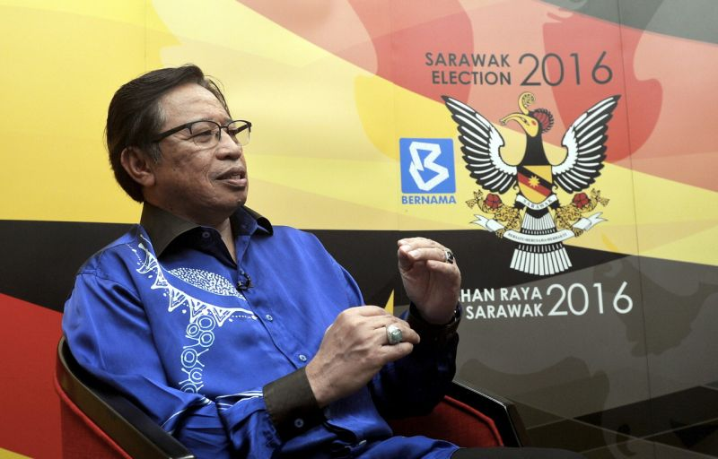 Sarawak Chief Minister Datuk Amar Abang Johari Openg said the oil and gas industry should be centralised in Bintulu as its infrastructure and surroundings were feasible to cater to the industrial needs. ― Bernama pic