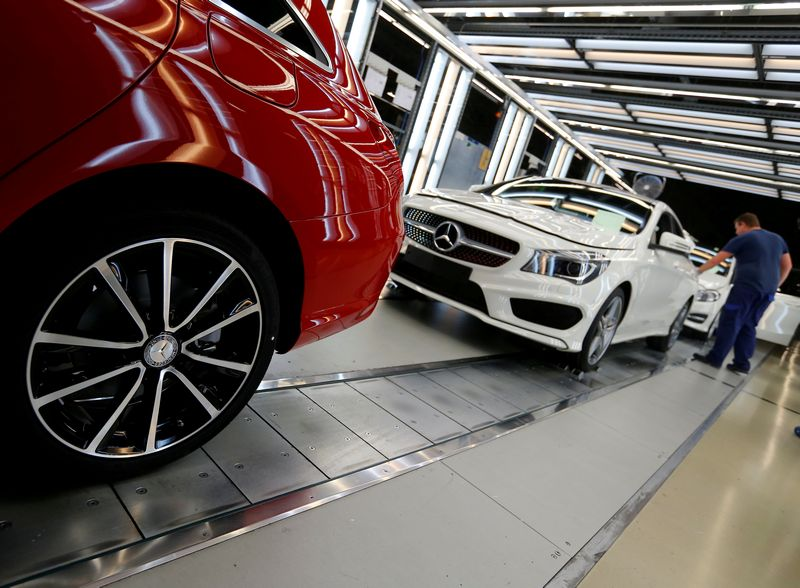 German carmaker Daimler yesterday announced better than expected third-quarter results. — Reuters pic