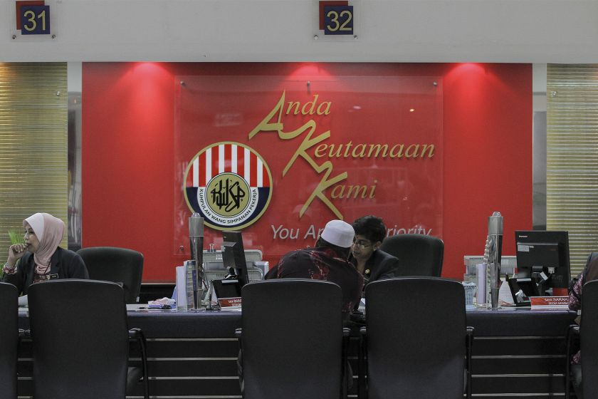 In a statement today, EPF said the viral message and contents were false and did not come from the agency. — Picture by Yusof Mat Isa