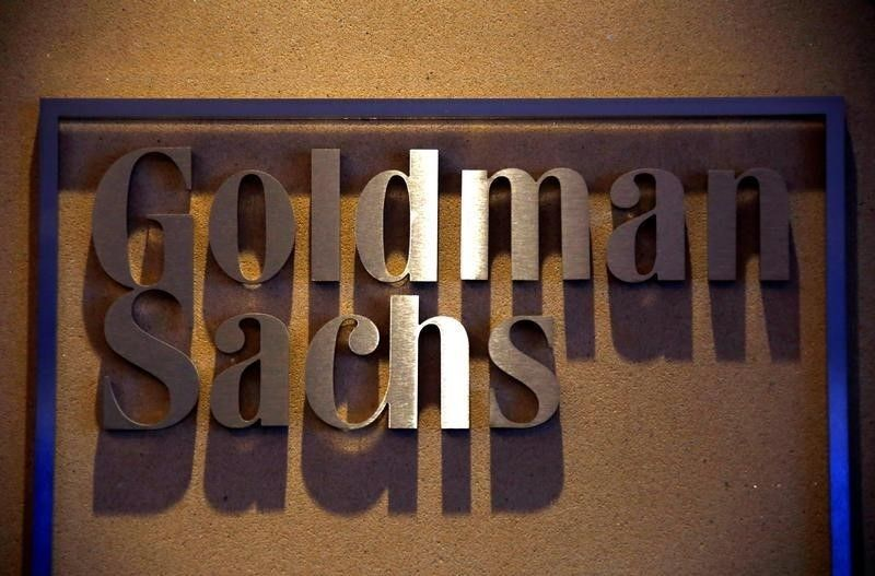 A sign is displayed in the reception of the Sydney offices of Goldman Sachs ― Reuters pic