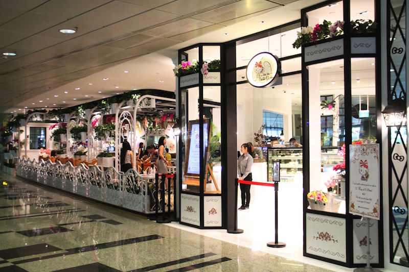 The exterior of the Hello Kitty Orchid Garden cafe. — TODAY pic