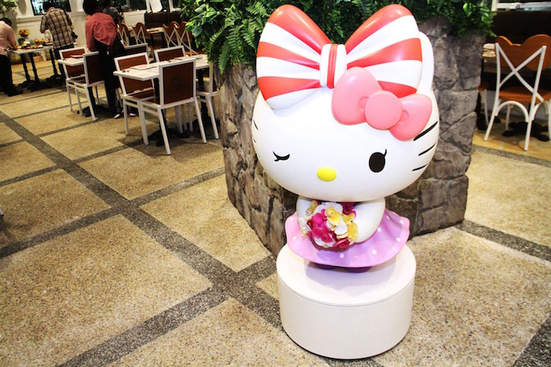 Hello Kitty Orchid Garden's mascot winks at you as you enter the cafe. — TODAY pic