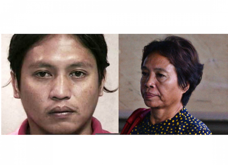 A composite image of Kho Jabing and his mother Lenduk Baling. Jabing failed to secure a stay of execution on his death sentence after the Singapore Court of Appeal turned down his last minute application yesterday. — TODAY pic