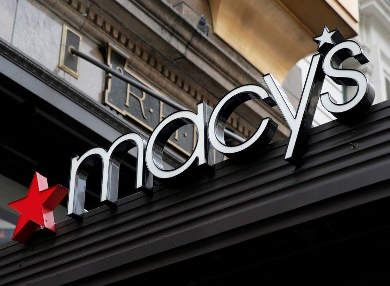 A sign that marks the Macy's store is seen at the Herald Square location in New York.― Reuters pic