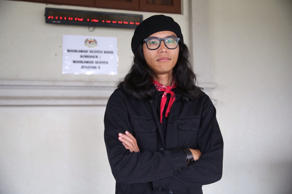 Graphic artist Fahmi Reza, shortlisted for a freedom of expression award, joins 15 other nominees from around the world who fought to overcome censorship. — Picture by Choo Choy May