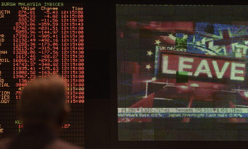 Losers overtake gainers 688 to 215, 367 counters are unchanged, 879 untraded and 80 others suspended. — AFP pic