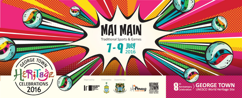 The theme of the annual George Town Heritage Celebrations is 'Mai Main! Traditional Games and Sports.'