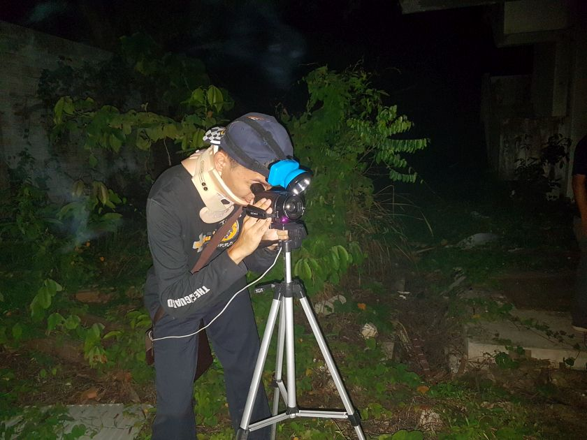 Ghost hunting groups all aim to get images of apparitions, orbs and entities on camera to prove the existence of the paranomal to non-believers. — Picture courtesy of Sabah Underground Paranormal.
