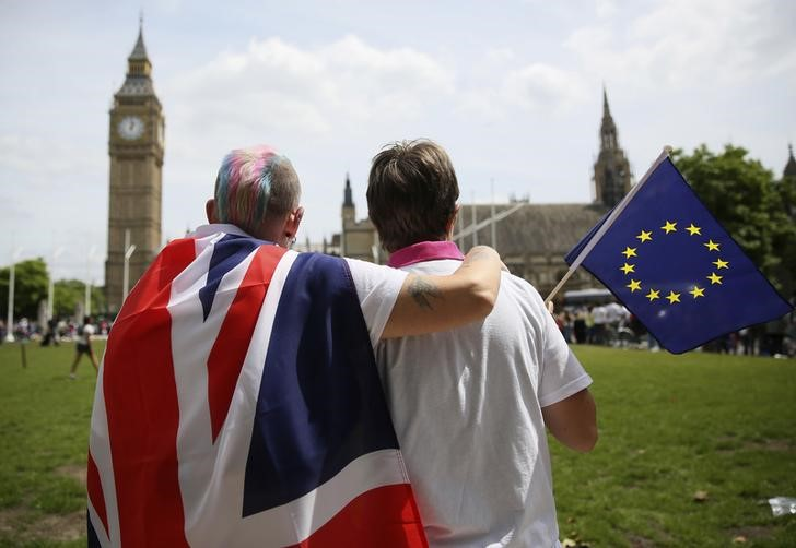 Britons voted by 52 per cent to leave the European Union in a 2016 referendum, but MPs have been divided over how, when and even if that result should be delivered. — Reuters pic