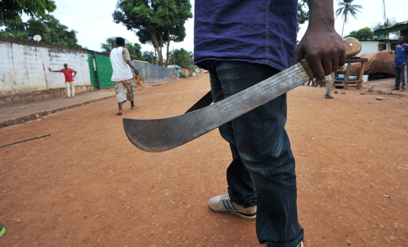 During their ordeal, the couple were also threatened with a machete by the man they had met through Facebook. — AFP pic