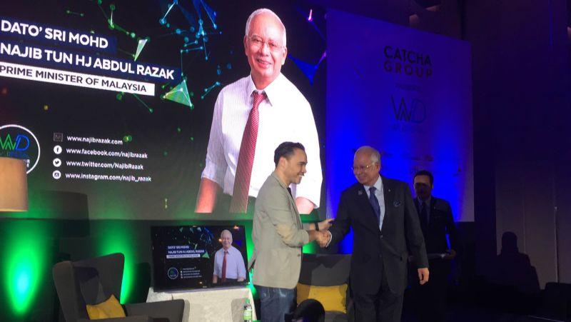 Prime Minister Datuk Seri Najib Razak (right) at the Wild Digital Conference at the Le Meridian Hotel, Kuala Lumpur June 9, 2016. ― Picture by Kamles Kumar