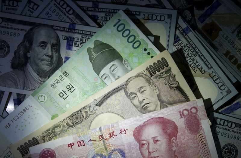 The yen rose around 0.2 per cent to 109.35 versus the US dollar on November 28, 2019 in Asia, rebounding from a six-month low. — Reuters pic