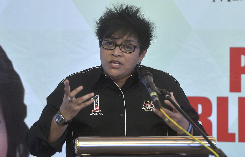 Minister in the Prime Minister's Department Datuk Seri Azalina Othman Said speaking at Parliament, July 26, 2016. — Bernama pic
