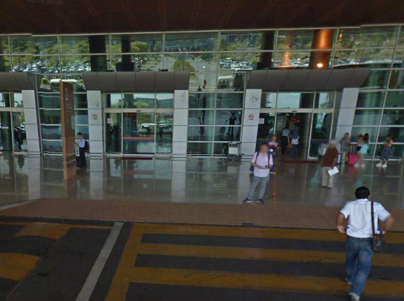 File picture of passengers at the Kuching International Airport. — Screenshot via Google Street View