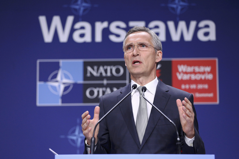 Nato Secretary General Jens Stoltenberg speaks at a news conference during the Nato Summit in Warsaw, Poland, July 9, 2016. — Picture by Adam Stepien/Agencja Gazeta via Reuters