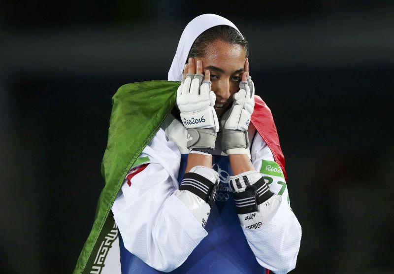 阿里扎德曾于2016年里约奥运拿下跆拳道项目铜牌。-路透社-