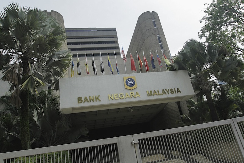 A general view of the headquarters of Bank Negara Malaysia. — Picture by Yusof Mat Isa