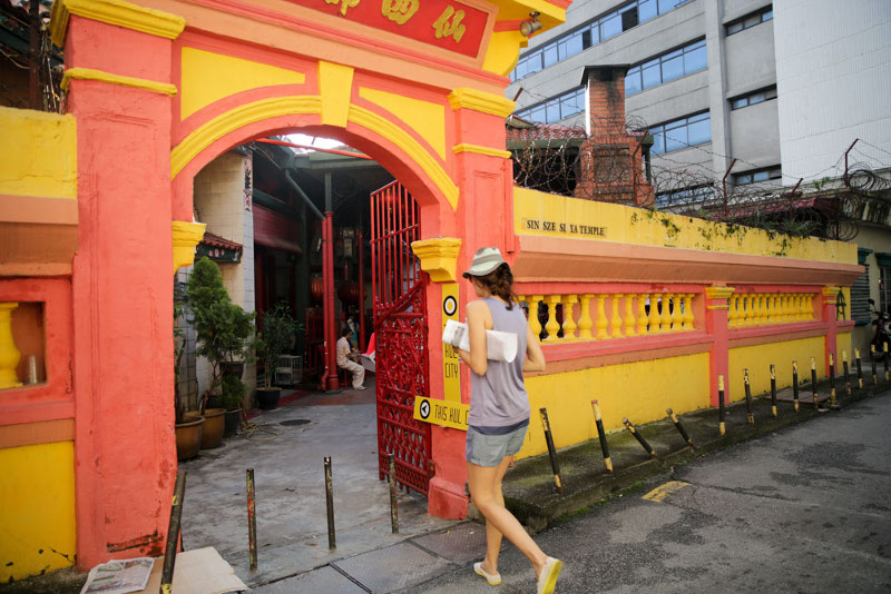 One of the two gates - along Jalan Lebuh Pudu - of the Sin Sze Si Ya temple that became a refuge for Ranjit's family during the May 13, 1969 riots.