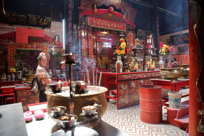 The main hall of the Sin Sze Si Ya temple that has three halls – where some of the many deities are placed.