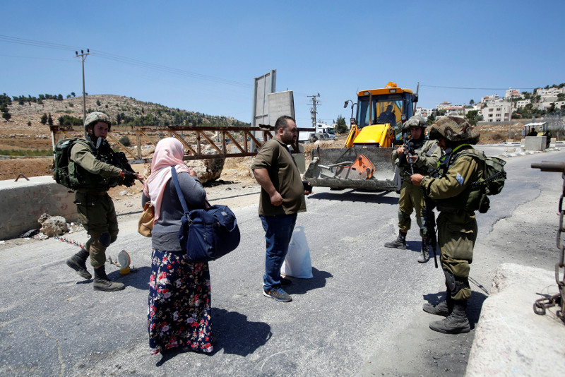 The army accused Barghout of firing at Israeli buses. — Reuters pic
