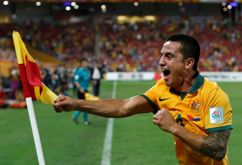 Australia's Tim Cahill ended his international career after last year's World Cup in Russia as his country's top scorer with 50 goals. — Reuters pic