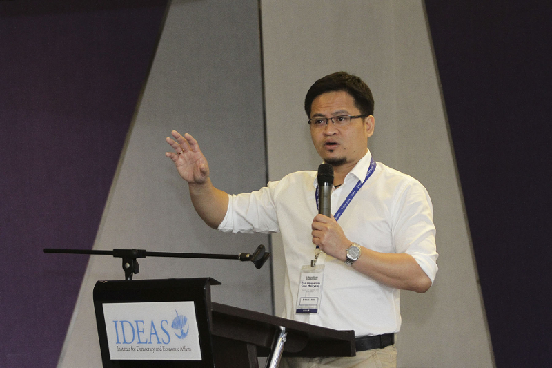 Dr Faisal Hazis speaks at the IDEAS Liberalism Conference 2016 in Kuala Lumpur September 24, 2016. — Picture by Yusof Mat Isa