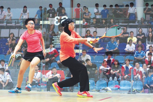 British Junior Open champion Aifa Azman, the joint third-fourth seed, will meet Madeleine Hylland from Norway. — Picture by Mohd Roslan Hisam