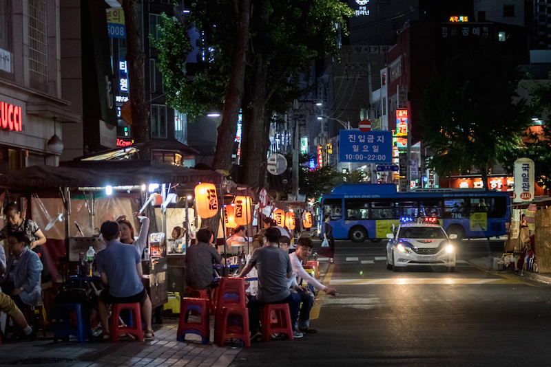 Police used to shut down soju tents, but the city government is now allowing them through a more generous permit process. — Reuters pic