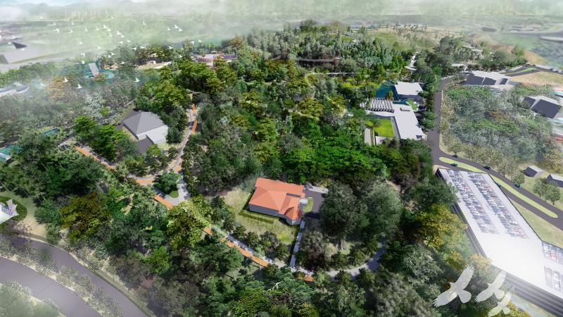 Artist's impression of a bird's eye view of Taman Tugu. — Picture courtesy of Khazanah Nasional