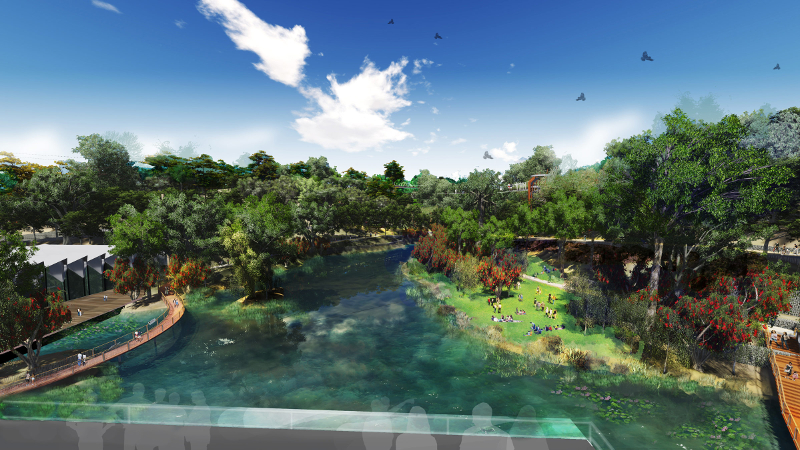 Artist's impression of jogging and walking trail around the lake in Taman Tugu. — Picture courtesy of Khazanah Nasional