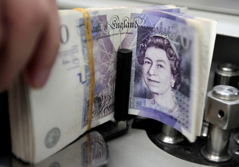 The pound has been particularly sensitive to risk sentiment in recent weeks and has correlated well with the performance of global stock markets. — Reuters pic