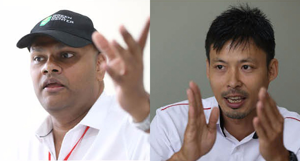 Matthew (left) says his data centres are built to be dependable. Koh (right) says his project would help reduce carbon emission. — Picture courtesy of MCMC