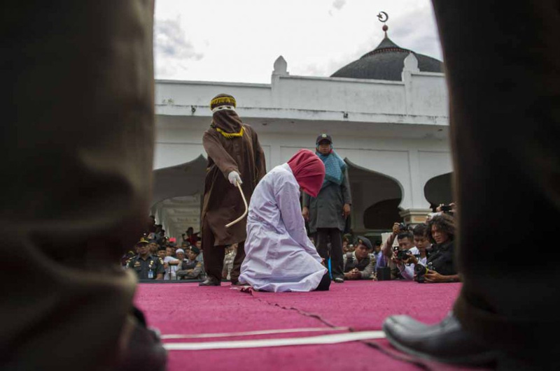 In the past only Muslim residents could be caned but that changed in 2015, when Aceh's regulations were overhauled. — AFP file pic