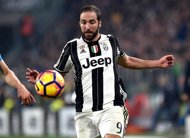 Gonzalo Higuain is reportedly set to join David Beckham's Major League Football franchise Inter Miami. — Reuters pic