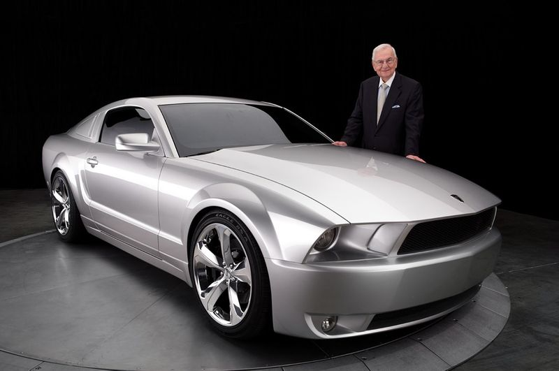 Lee Iacocca pictured with the Iacocca Silver 45th Anniversary Edition Mustang in 2009. — AFP pic