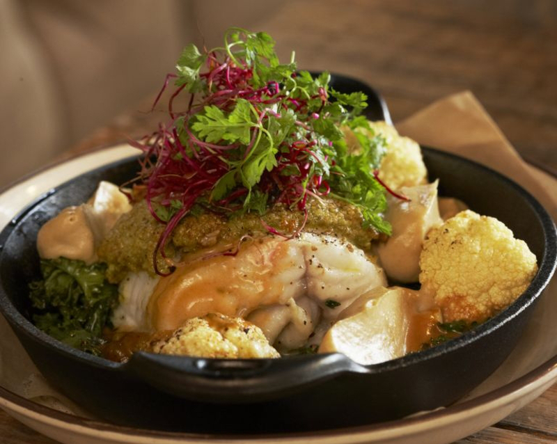 Salted fillet of Icelandic cod, with quinoa, roasted hazelnuts at Kopar. — Pictures by Inspired by Iceland via AFP