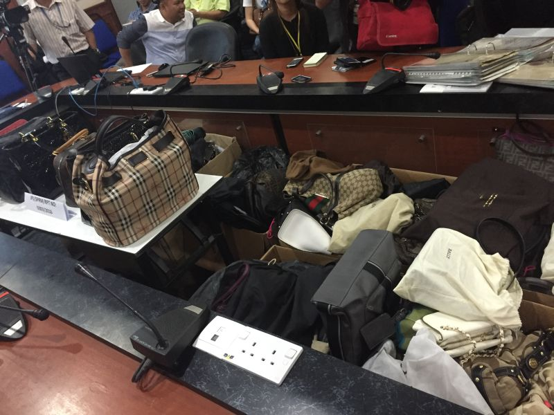 The collection of 94 luxury brand bags ― Gucci, Chanel, Burberry, Christian Dior, Bally, Fendi and more were also seized.