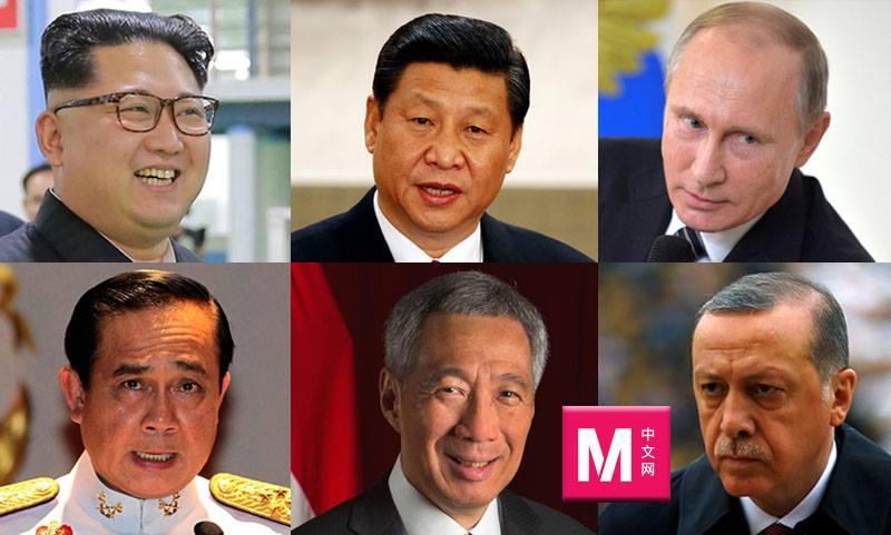"""无国界记者公布""""新闻自由公敌名单"""",上榜者包括一些国家的元首和政府首脑等。-M中文网制图-"""