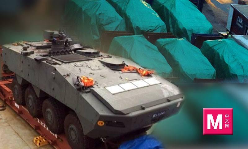 香港海关人员日前扣押了9辆新加坡的装甲车,这些装甲车由一艘由台湾高雄开往新加坡、并途经香港的货柜船运送。-路透社、M中文网制图-