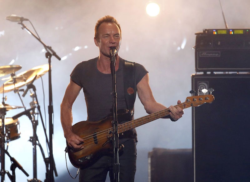 Sting performs a medley of songs at the 2016 American Music Awards in Los Angeles November 20, 2016. — Reuters pic