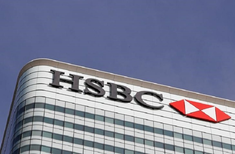 The HSBC bank logo is seen at its offices in the Canary Wharf financial district in London, Britain, March 3, 2016. — Reuters pic